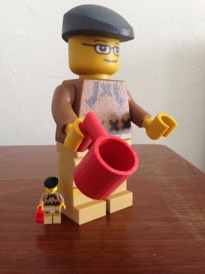Lego 3 d druck polymergips