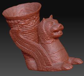 3d scan antiker geflügelter löwe