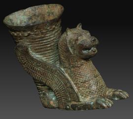 3d druck vorlage aus 3d scan antiker löwe